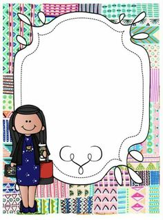 Portada School Binder Covers, Teacher Binder Covers, Borders For Paper, Borders And Frames, Boarder Designs, School Frame, Easy Coloring Pages, Literacy Games, Free Teaching Resources
