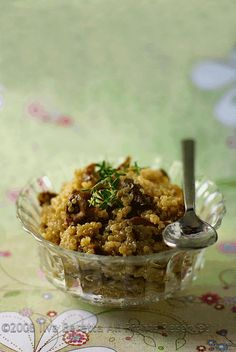 QUINOA RISOTTO (OR QUINOTTO) WITH MUSHROOMS AND THYME : Lucullian delights - an Italian experience