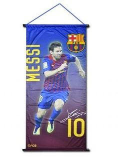 FC Barcelona & Lionel Messi Banner by Barcelona F.C.. $15.98. This official banner for FC Barcelona's goal king Lionel Messi measures 59cm x 28cm and is ideal for all Barca fans.