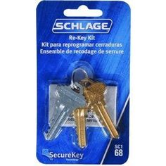 Securekey Re-Key Kit by Hillman. $12.09. Blue Key Rekeying kit for Schlage SecureKey. Kit comes with a new Blue Reset Key that has been cut to the 2 matching brass key blanks.