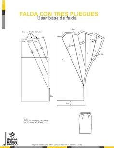Basico Руководство-де-Патронаж к е-Interpretacion-де-Di. Dress Sewing Patterns, Clothing Patterns, Pattern Drafting Tutorials, How To Make Skirt, Sewing Doll Clothes, Modelista, Fashion Sewing, Pattern Books, Sewing Techniques