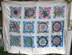 ANTIQUE QUILT AFRICAN AMERICAN ROLLING STAR PATCHWORK VINTAGE QUILTS HANDMADE