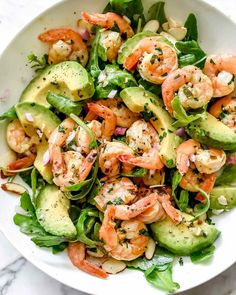 I could eat this Citrus Shrimp and Avocado Salad for breakfast, lunch an Whoa!& I could eat this Citrus Shrimp & and Avocado& Salad for breakfast, lunch and dinner! Shrimp Avocado Salad, Avocado Salad Recipes, Avocado Salat, Salad Recipes For Dinner, Dinner Salads, Salad With Shrimp, Shrimp Salad Recipes, Pasta Salad, Shrimp Meals