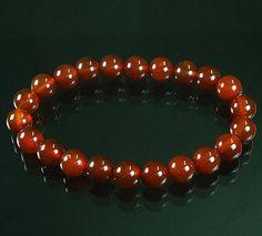 Tibetan Red Agate Gemstone Bead Buddhist Mala Bracelet$