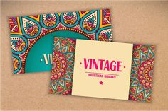 12 Business card in ethnic style - Business Cards