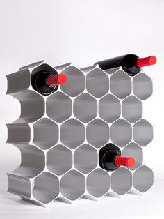 Modular Honeycomb Wine Rack