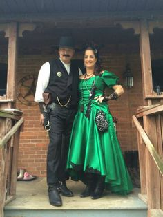 Happy repeat customers as a Saloon Girl and a Gunslinger!