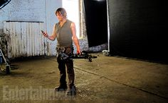 'Walking Dead': Behind-the-Scenes at the EW Cover Photo Shoot The Walking Dead 3, Walking Dead Season, Actors Funny, Dead To Me, Great Tv Shows, Stuff And Thangs, Television Program, Scene Photo, Daryl Dixon