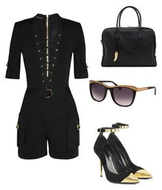 """""""Untitled #552"""" by hannahjoyjacob on Polyvore featuring Balmain, women's clothing, women, female, woman, misses and juniors"""