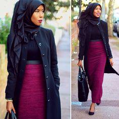 Ootd: coat and top - h&m / skirt- newlook / bag- zara / scarf - basmakcollection
