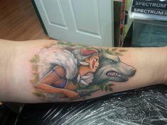 Princess mononoke tattoo done by orlando tattoo company - Imgur