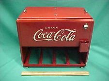 Vintage Original 1939 Coca Cola Coke Salesman Sample Metal Cooler With Booklets