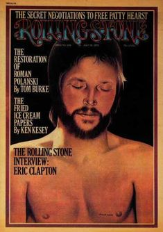 Eric Clapton, 1974 Rolling Stone Cover by Philip Hays art print Music Pics, Music Photo, Music Music, Rock N Roll Music, Rock And Roll, Eric Clapton Slowhand, Dr Hook, Rolling Stone Magazine Cover, Ken Kesey