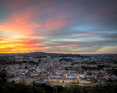 Looking over Bath at sunset