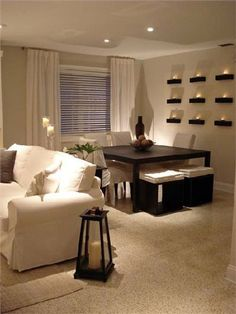 Outstanding Small Apartment Living Room Layout Ideas 29 – Home Design My Living Room, Home And Living, Living Room Decor, Living Modern, Dinning Room Wall Decor, Small Living Rooms, Cozy Living, Small Apartments, Small Spaces