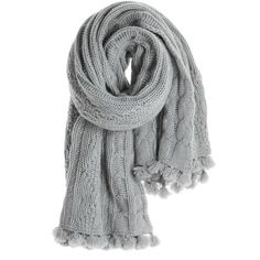 CALYPSO St. Barth Trussi Cashmere Cable Knit Scarf ($595) ❤ liked on Polyvore featuring accessories, scarves, cashmere shawl, wrap shawl, calypso st. barth, cable knit scarves and cashmere wrap shawl