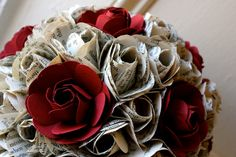 Louisville Wedding Blog - The Local Louisville KY wedding resource: Vintage Paper Flowers at your Wedding