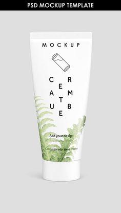 Free Cream Tube MockUp Template