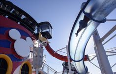 Disney Cruse line water slide