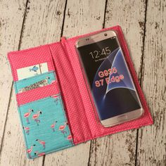 Flamingo print wallet for Samsung Galaxy S4 S5 S6 S7 by BeulahVida