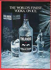 Finlandia Vodka of Finland, 1984 Magazine Print Ad, Free WW/SH Camping Set, Print Magazine, Print Ads, Vodka Bottle, Ebay, Drinks, Free, Drinking, Beverages