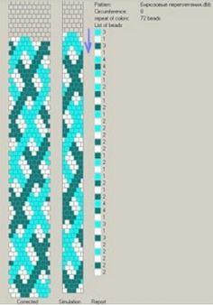 Crochet rope - 8 around - pattern.   #Seed #Bead #Tutorials