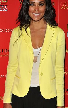 Rachel Roy in a sunny yellow blazer