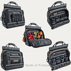 A number of changes have been made to tailor the bag to accommodate service technicians tools and work routines. Van Storage, Tool Storage, Buy Tools, Cool Tools, Tool Organization, Organizing, Hvac Tools, Tool Board, Tool Pouch