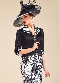 Zeila 3018928 - Black and white mother of the bride outfit