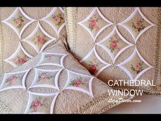 How to Sew the Circles for the Cathedral Window Quilt Cathedral Window Patchwork, Cathedral Window Quilts, Cathedral Windows, Tutorial Patchwork, Patchwork Quilt Patterns, Patch Quilt, Quilt Blocks, Origami Quilt, Bow Pillows