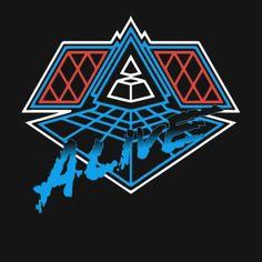 BOX'NGO - $18.99 Alive Daft Punk electronic house music duo black t-shirt