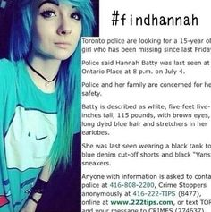 If anyone has any information on her whereabouts, please contact the number provided.
