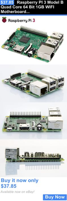 Computers Tablets Networking: Raspberry Pi 3 Model B Quad Core 64 Bit 1Gb Wifi Motherboard Pc Computer New BUY IT NOW ONLY: $37.85