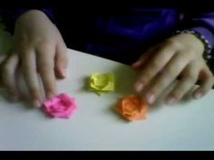 how to make a really easy origami flower