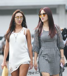 Sistar Hyorin & Soyou Sistar, Dresses, Fashion, Gowns, Moda, Fashion Styles, Dress, Vestidos, Fashion Illustrations