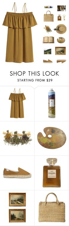 """painting in the nature"" by fashionmelka ❤ liked on Polyvore featuring R+Co, Soludos, Chanel, Toast and Gucci"