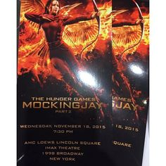 "@panem_propaganda's photo: ""We've arrived and received our tickets for the last Mockingjay premiere/screening in NYC!! More to come. Most of the cast is due to be here and we'll be posting pics from the red carpet!  #MockingjayNYC @TheHungerGames"""