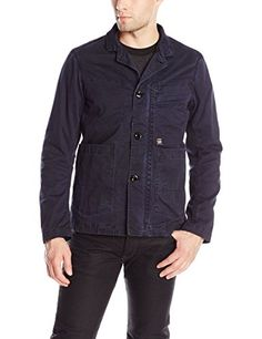 GStar Raw Mens Bronson Blazer Tailored and Sportcoats Imperial BlueMazarine Blue Medium >>> For more information, visit image link.