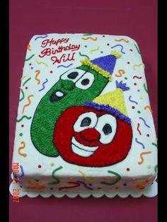 veggie tales 2nd birthday..too cute.