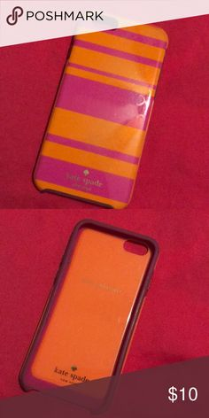 kate spade iphone 6 case needs cleaning and has minor scratches but still in really great condition! true orange and pink color. kate spade Accessories Phone Cases