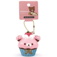 blue and pink Rilakkuma bear cupcake squishy cellphone charm 4 Bear Cupcakes, Kawaii Crafts, Pink Icing, Kawaii Accessories, Best Cell Phone, Japanese Characters, Kawaii Chibi, Anime Dolls, Cute Japanese