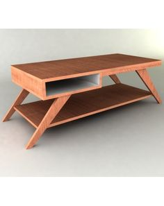 Modern Furniture Plan - Diagonal Storage Coffee Table