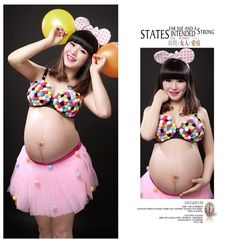 46.46$  Buy now - http://ali5e1.worldwells.pw/go.php?t=32437464817 - Photography Props Sweet Maternity Ball Gown 2pcs ( Bra & Tutu) Dress Set Fancy Photo Shoot Baby Shower Gift Studio Clothing 46.46$