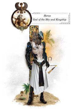 """Horus"" by chomiczynka ❤ liked on Polyvore featuring arte e mythology"