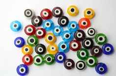 Colorful Evil Eye Beads For Bracalet or by PrettyTurkishThings, $4.10