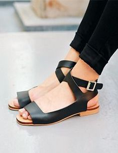 Sandals  by Yubshop. Perfect for those warm early autumn days! | shoes @ http://eleanoraretif.com