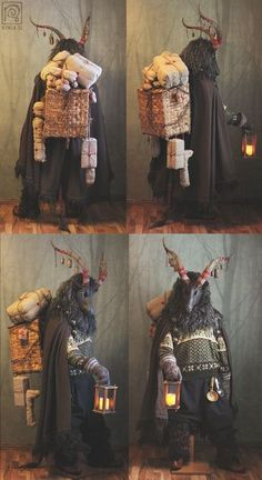 Yule Goat Costume Nymla on Patreon Yule Goat, Costume Ethnique, Mode Alternative, Fantasy Costumes, Halloween Disfraces, Character Outfits, Character Design Inspiration, Creature Design, Costume Design
