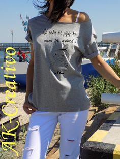 """t-shirt luźny  """"DO NIEBA NIE PÓJDĘ"""" w AK-Creativo na DaWanda.com"""