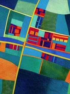 River Crossing art map quilt by Alicia Merrett