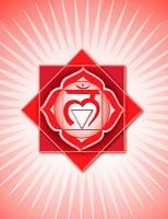 "Root Chakra: ""Muladhara""  Location: Base of spine  Color: Red  Element: Earth  Mantra: Lam  Meditation: I am  Affirmations: I stand firmly in my life in a loving and imaginative way. I know that I am protected and that all my needs are met abundantly.  Related to: Stability, survival, and basic needs  Asana: Mountain, chair, eagle, locust, cobra, warriors, tree, goddess, prayer squat, standing forward bend, seated forward bend (head to knee), bridge, reclining bound angle"